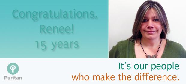 Puritan Employee Milestones Renee Hasting